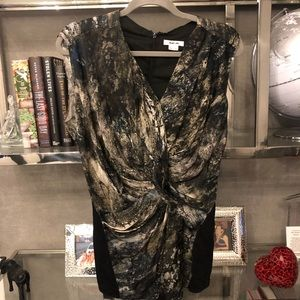 Helmut Lang draped blouse top